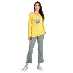 AMY VERMONT Sweatshirt, Damen, gelb, mit Motiv im Vorderteil