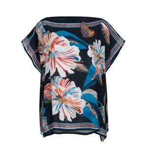 Alba Moda Strandbluse, Damen, blau, im Tücherstil