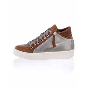 Alba Moda High Top-Sneaker, Damen, silber, im Optiken-Mix