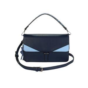 Turned Love Handtasche, Damen, blau, mit abnehmbarem Schmetterlings-Anhänger