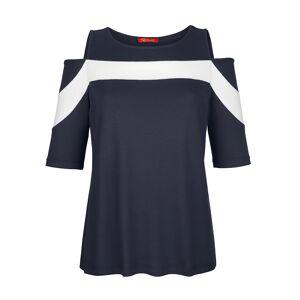 Alba Moda Shirt, Damen, blau, mit Cut-Outs im Schulterbereich