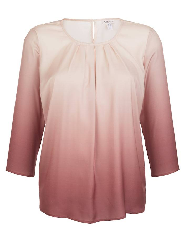 Alba Moda Bluse, Damen, rosé, mit Farbverlauf-Dessin