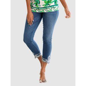 Alba Moda Jeans, Damen, blau, mit Ornamentstickerei