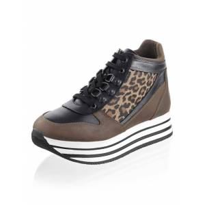 Alba Moda Sneaker, Damen, beige, aus Rindsleder