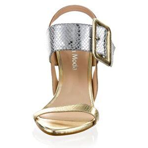 Alba Moda Sandalette, Damen, silber, in metallischem Reptil