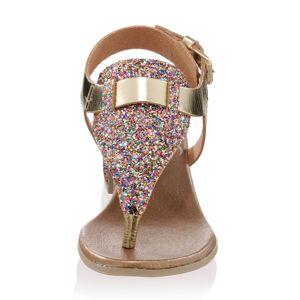 Alba Moda Infradito, Damen, gold, in effektvoller Glitteroptik