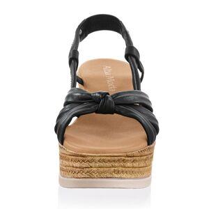 Alba Moda Sandalette, Damen, schwarz, mit attraktivem Riemen