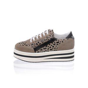 Alba Moda Sneaker, Damen, braun, mit trendaktueller Plateausohle