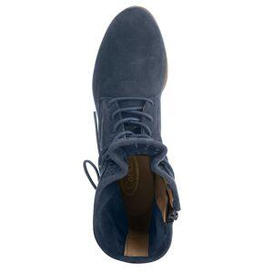 albamoda.ch Schnürstiefelette, Damen, blau, mit attraktiver Loch-Perforation