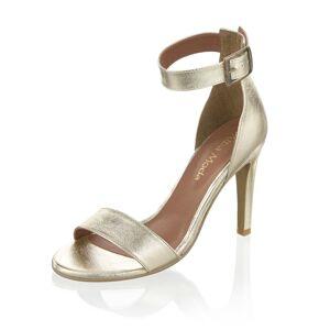 Alba Moda Sandalette, Damen, gold, aus Perlatoleder