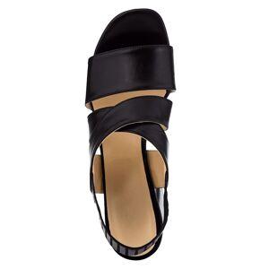 WENZ Sandale, Damen, schwarz, mit elastischem Fersenriemchen