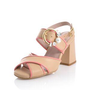 Alba Moda Sandalette, Damen, rosé, in harmonischer Zweifarbigkeit