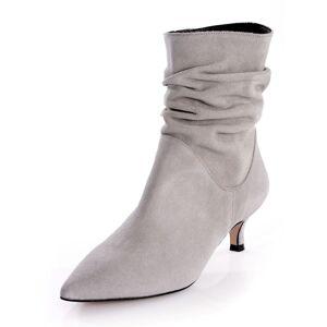 Alba Moda Stiefelette, Damen, grau, in geraffter Form