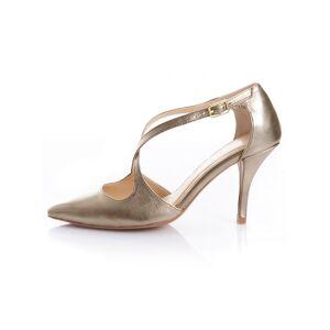 Alba Moda Pumps, Damen, gold, in metallischer Optik