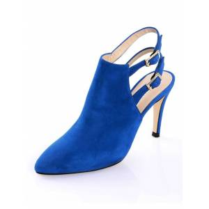 Alba Moda Stiefelette, Damen, blau, mit zwei Knöchelriemchen