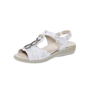 Naturläufer Sandale, Damen, weiß, aus schimmerndem Leder