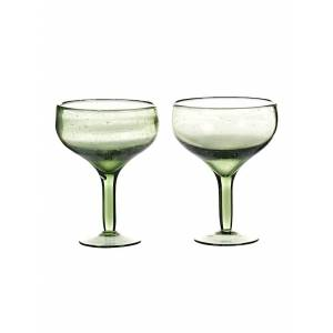 House Doctor Cocktailglas-Set, 2-tlg., Unisex, grün
