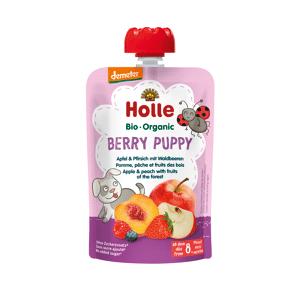 Holle Demeter Berry Puppy - Pouchy Apfel & Pfirsich mit Waldbeere, ab dem 8. Monat (100g)