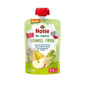 Holle Demeter Fennel Frog - Pouchy Birne mit Apfel & Fenchel, ab dem 6. Monat (100g)