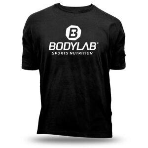 Bodylab24 T-Shirt Schwarz mit weißem Logo - XXL