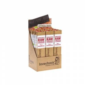 Lovechock Organic RAW Chocolate - 12x40g - Pur-Kakaonibs