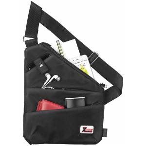 Xcase Crossbody-Tasche mit 3 Fächern, RFID- & NFC-Blocker, unisex, schwarz