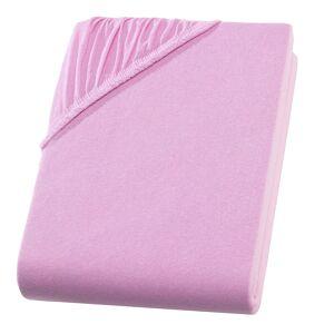 Casativo Doppelbett Qualitäts-Jersey Fixleintuch, rosa
