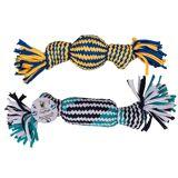 Out of the blue Hunde-Wurftau mit Quietscheffekt aus Jersey, 2-fach sortiert, 29cm