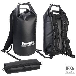 Semptec Urban Survival Technology Wasserdichter Trekking-Rucksack aus Lkw-Plane, 20 Liter, schwarz, IPX6