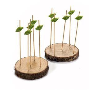 Untersetzer für Häppchen, aus Holz, 2 Stück, Spiesse, 2 x 20 x 15cm