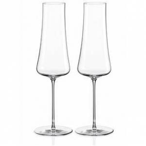 Nude Stem Zero Volcano Champagner Glas, Kristallglas, 2 Stück