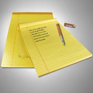 Original U.S. Legal Pads Schreibblöcke, 9 Blocks à 100 Blatt, gelb
