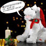 Gilde singender Weihnachtshund, White Christmas