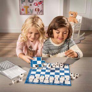 Chess Junior Schachspiel für Kinder, Lernspiel, blau