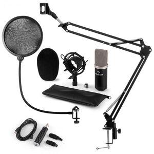 Auna CM003 Mikrofon-Set V4 Kondensatormikrofon USB-Konverter Mikrofonarm schwarz
