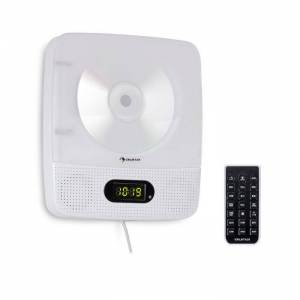Auna Vertiplay CD-Player Bluetooth Nachtlicht UKW-Radio AUX Digitaluhr weiß