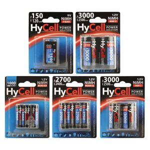 HyCell Power Solution 9V Block NiMH AkkuTyp 150 (mind. 120 mAh) - 1 Stück