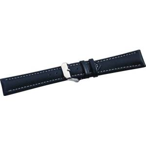 Westfalia Lederband schwarz & weiße Steppnaht 180 mm lang/ 20 mm Anstoßbreite
