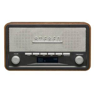 Denver DAB+ Radio mit Weckfunktion im formschönen Holzgehäuse