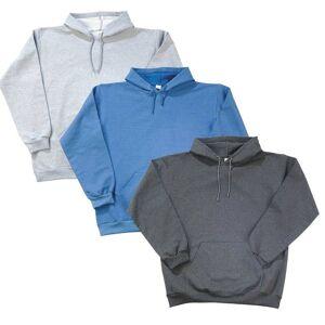 Kapuzensweatshirt, silbergrau, Gr. XL