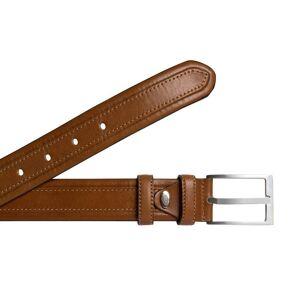 Braun Ledergürtel, Farbe braun, Gr. 110
