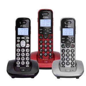 Olympia Schnurloses DECT Telefon mit großen Tasten in silber