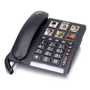 Switel Komfort Telefon mit extra lautem Klingelton und einer optischen Anrufanzeige