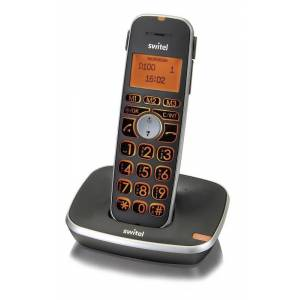 Switel Schnurgebundenes extralautes Großtastentelefon mit Anrufbeantworter und Mobilteil