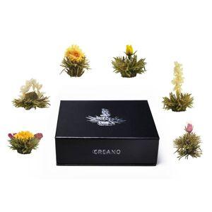 Creano Teeblumen Mix ErblühTee in edler Magnet-Geschenkbox, 6 verschiedene Sorten