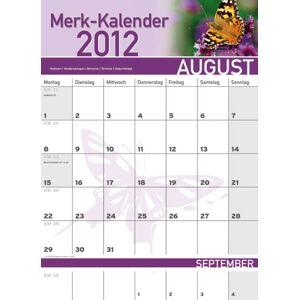 Wandkalender, Merk-Kalender 2020, 12 Seiten, 34 x 47 cm