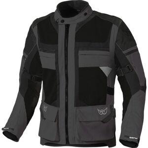 Berik Tour-X wasserdichte Motorrad Textiljacke Schwarz Grau 50