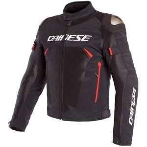 Dainese Dinamica Air D-Dry Motorrad Textiljacke Schwarz Rot 48