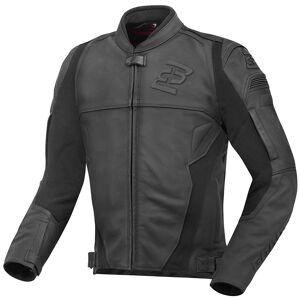 Bogotto Black-X Motorrad Lederjacke Schwarz 4XL