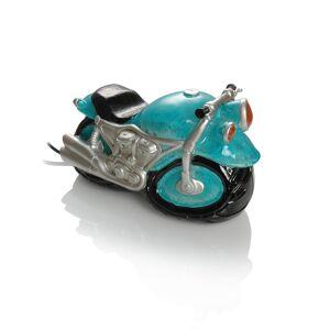 Booster Kunststein Tischlampe Motorrad  Blau